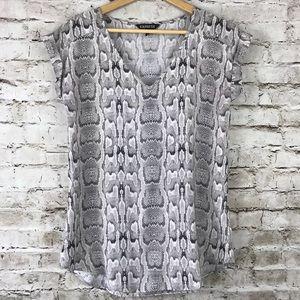 Express v neck snakeskin blouse